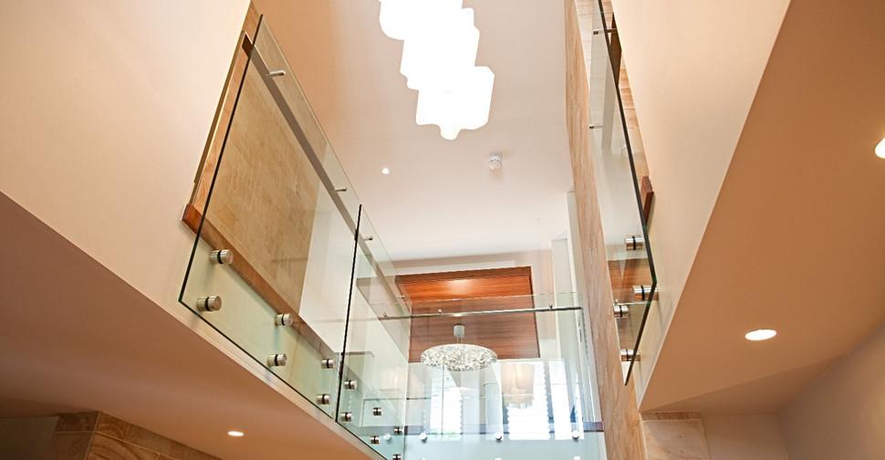 pin fixed internal balustrade with offset handrail brisbane