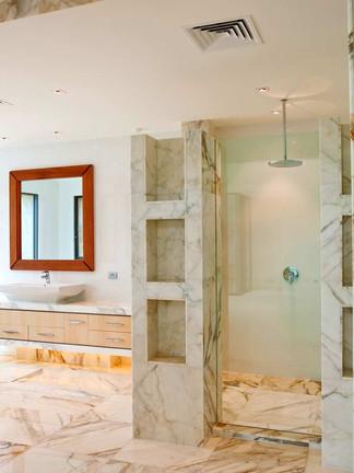 Framless inline shower screen ]