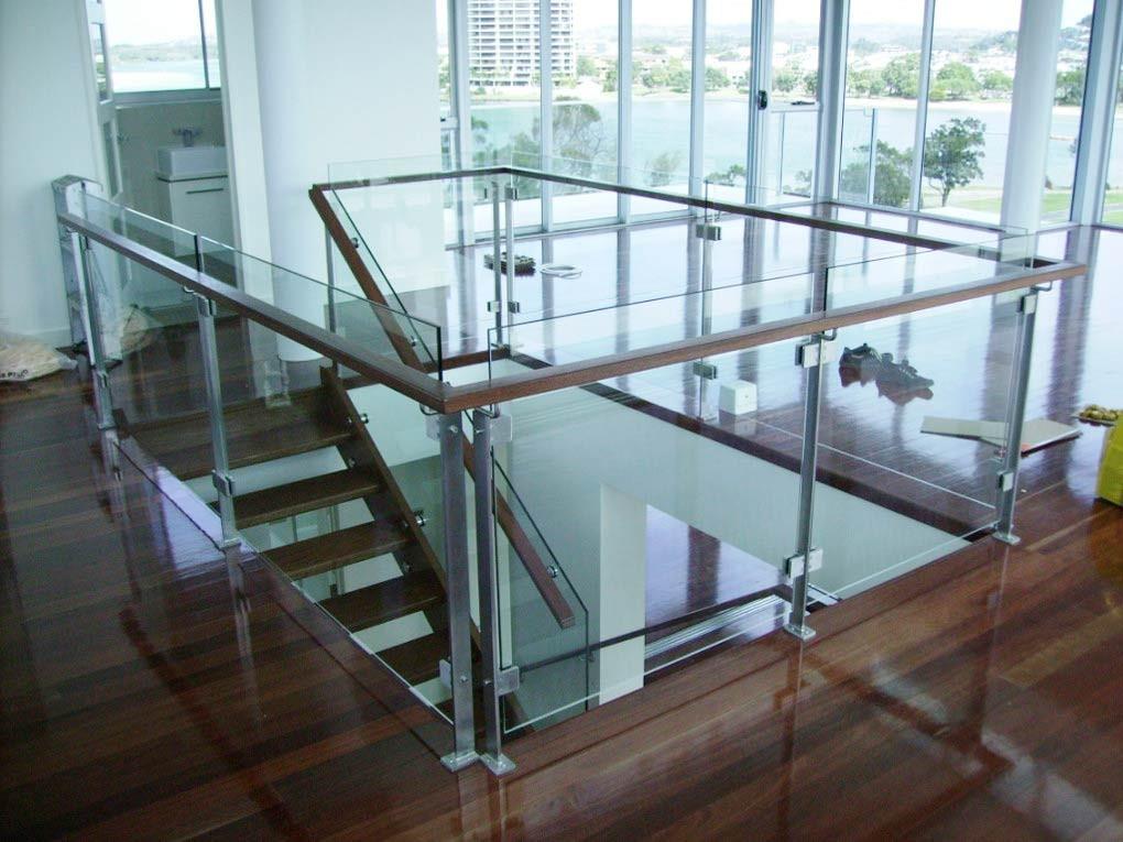 Framless glass Staicase brisbane \
