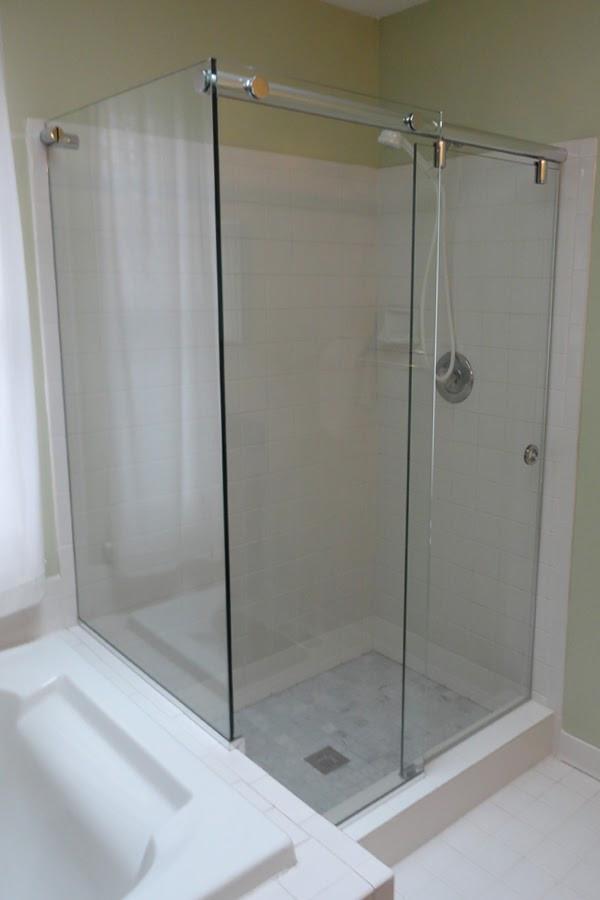 Hydroslide system glass to glass