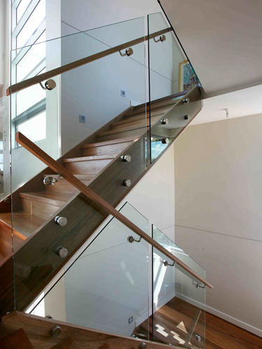 Three level staircase pin fixed brisbane