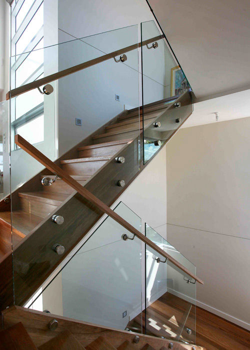 Three level staircase pin fixed brisbane
