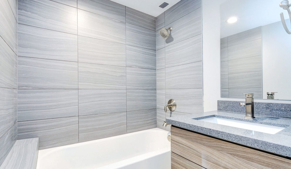 Vanity mirror in amazing bathroom