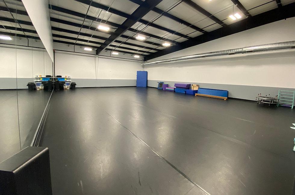 Charlee's Elite School of Dance Tumbling / Acro / Gymnastics Room with Mats & Equipment