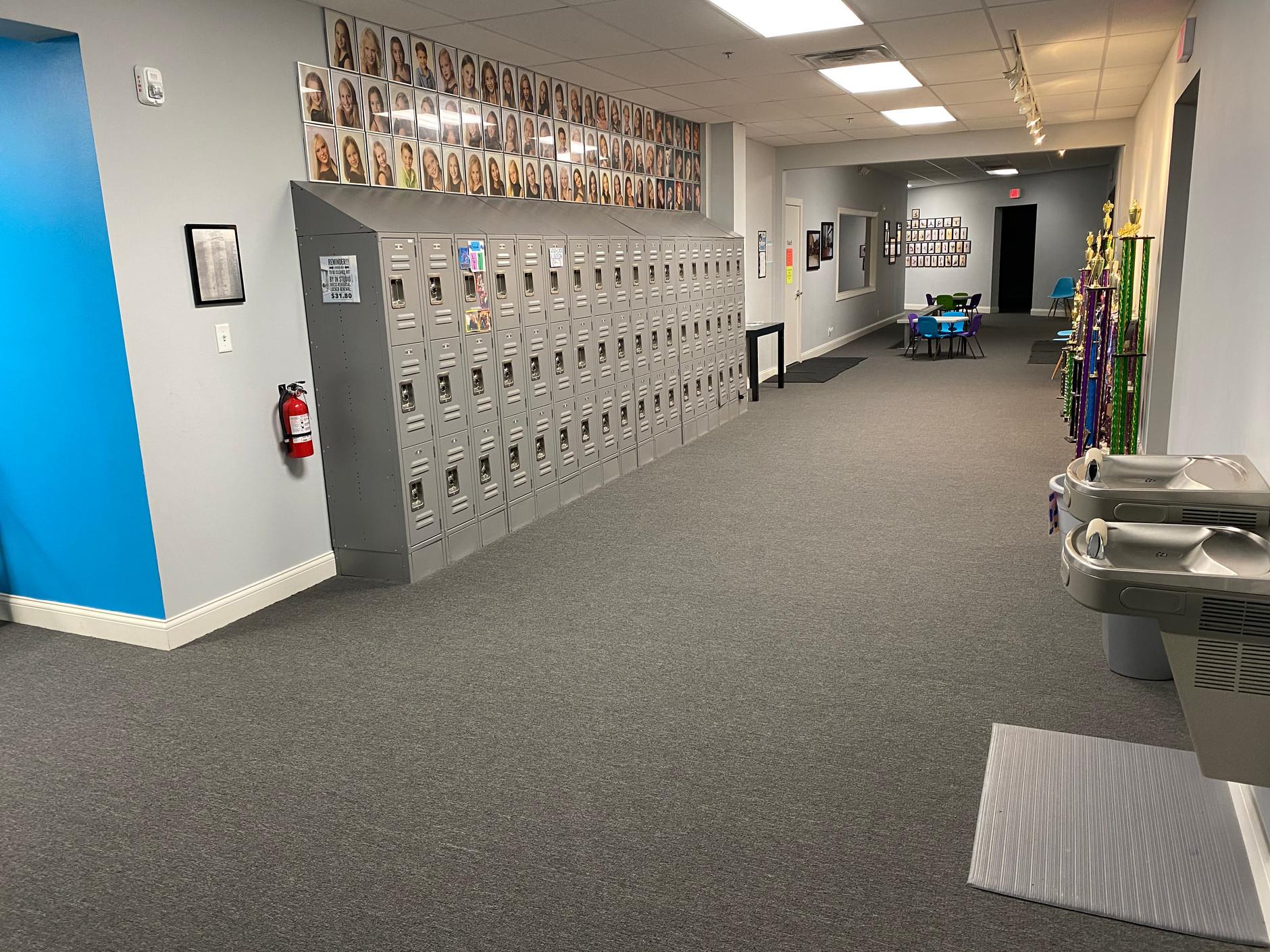 Lockers, Main Hallway, Studio B Viewing Area