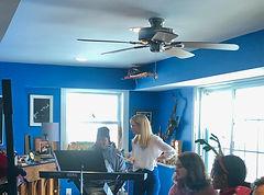 JAM musicians rehearsing