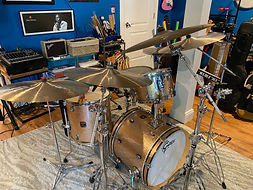 One of JAM's drumsets