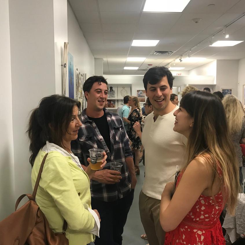 Artist Kara Hoblin with Guests