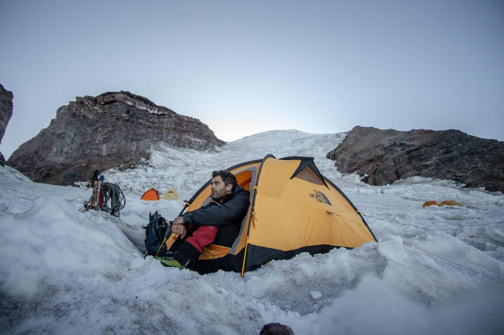 Tent on Ingraham Flats