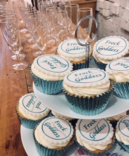 Frock goddess cup cakes