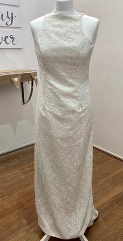 60s style ivory wedding dress