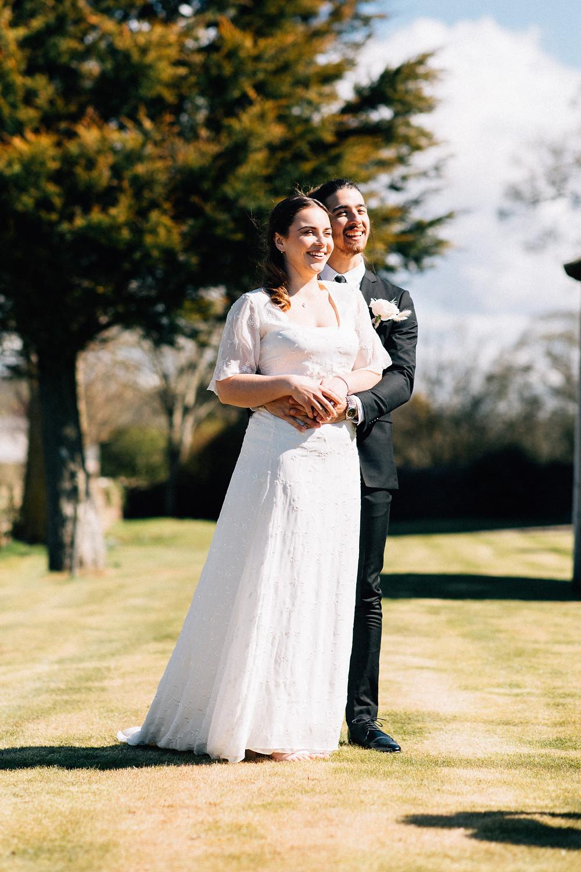 Long chiffon wedding dress