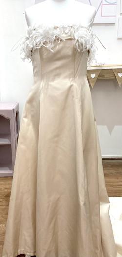 CC strapless feather detail dress