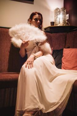 Hollywood glamour wedding dress