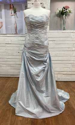 Ice Blue Silk dress
