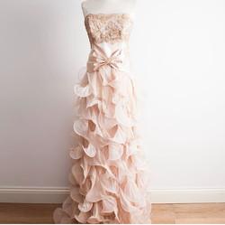 Pink Ruffle Silk Dress