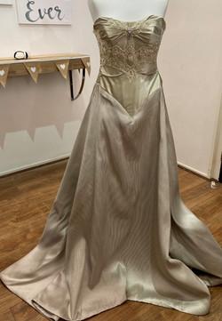 oyster strapless wedding dresses