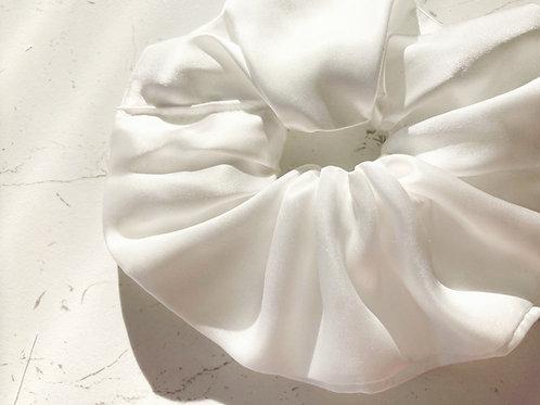 Bamboo Silk Bridal Scrunchie
