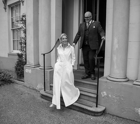 Long white organic cotton shirt wedding dress with front split oversized collar and pockets