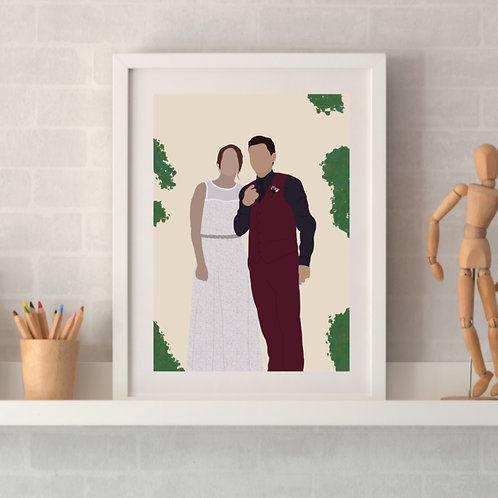 personalised photo transformation framed wedding photo