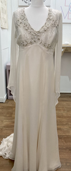 CC dress with bell sleeves