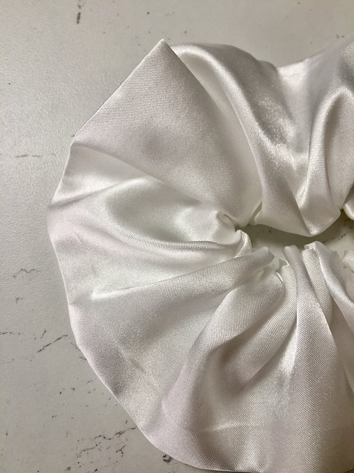 Sustainable hand made bamboo silk luxury bridal scrunchie