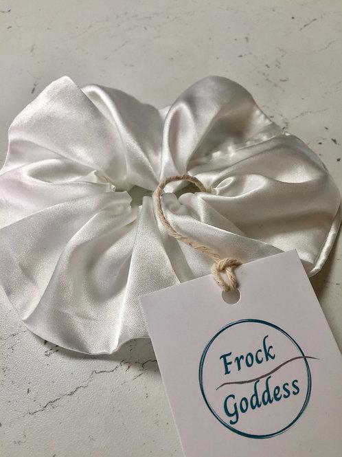 sustainable hand made bamboo silk luxury bridal scrunchie