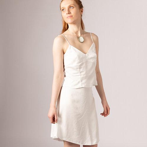 bamboo silk vegan bridal knee length skirt