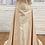 strapless silk long oyster dress with embroidery