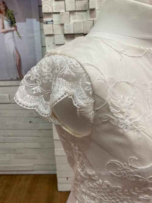 hand made ethical silk and lace ivory bridal top