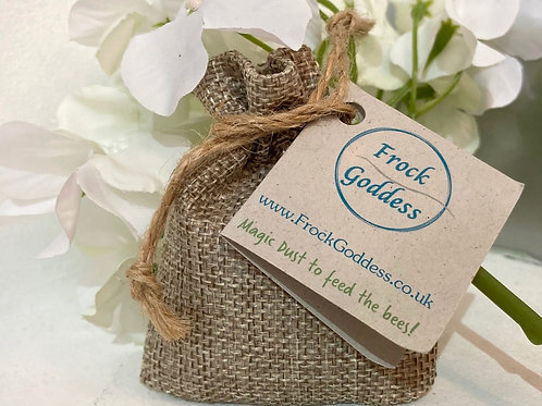 feed the bees eco friendly wedding favour gift wildflower seeds