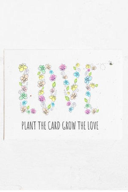 Eco Friendly planting card