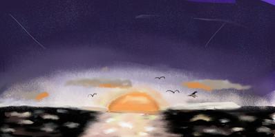 夕日の海.JPG