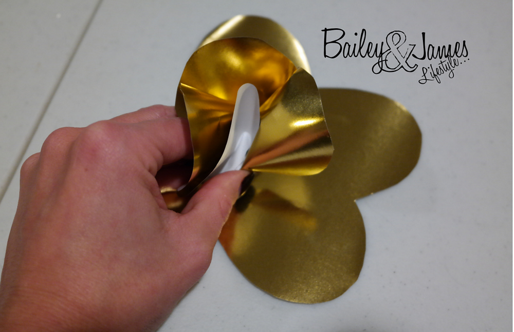 Step 4 Gold Paper Flowers