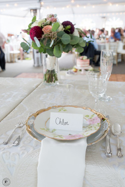 Place setting for the Bride