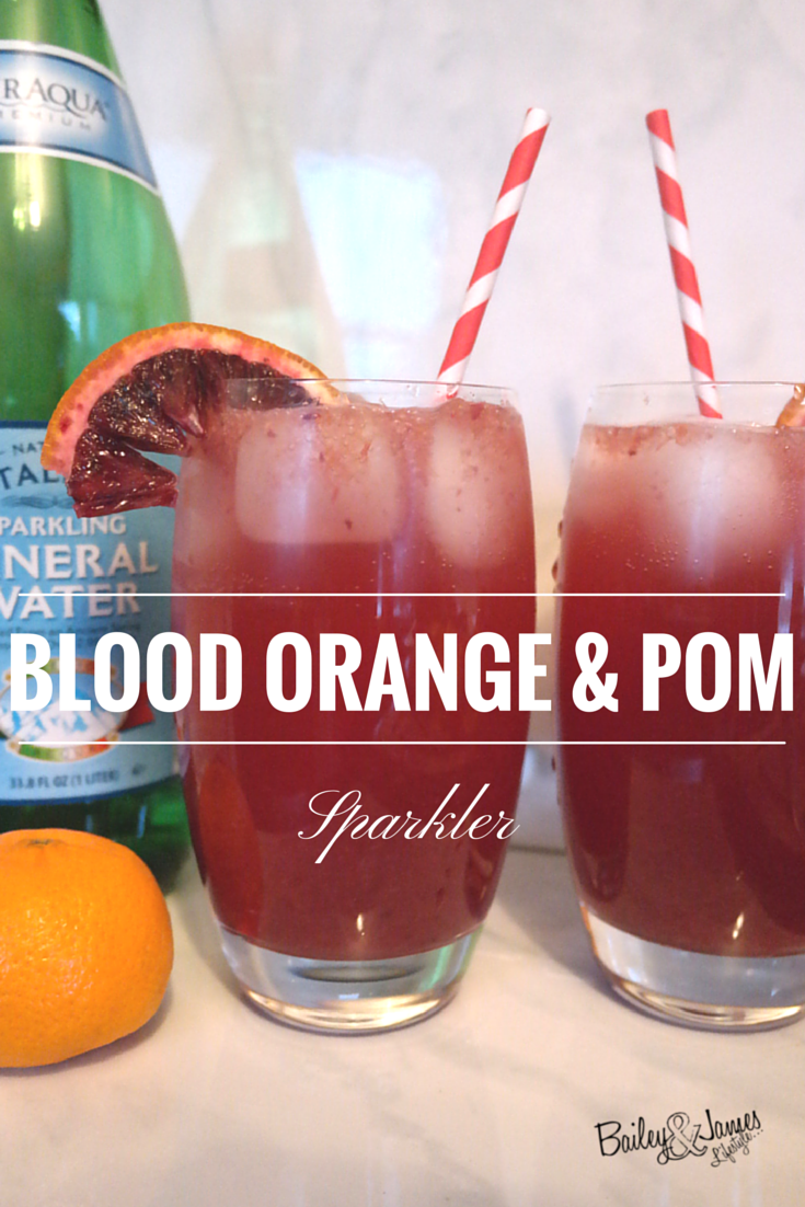 Blood Orange & Pom Sparkler