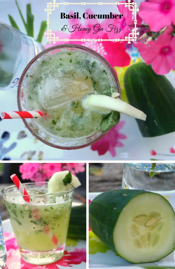 Basil, Cucumber & Honey Gin Fizz