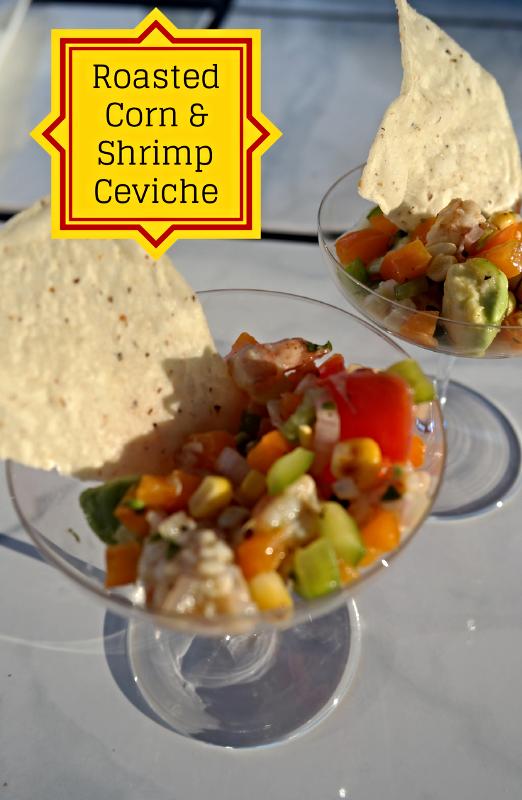 Spanish Inspired Part I: Roasted Corn & Shrimp Ceviche