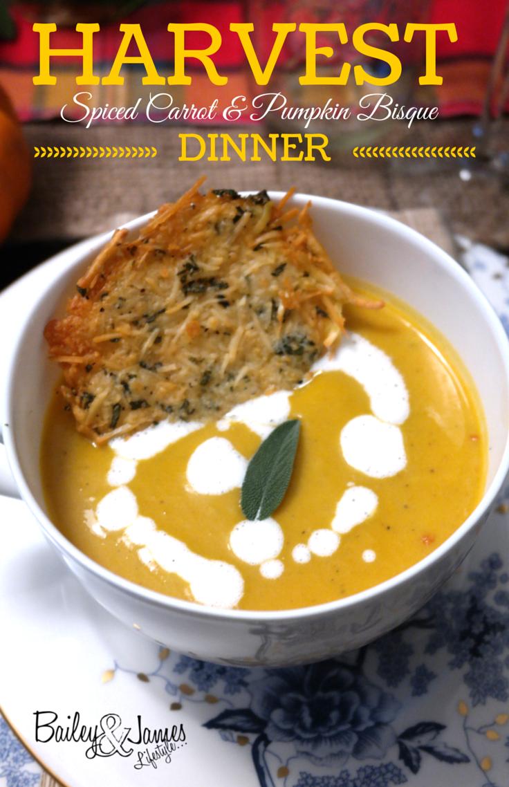 Harvest Dinner: Spiced Carrot & Pumpkin Bisque