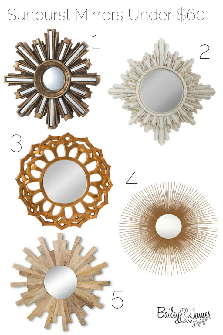Sunburst Mirror Roundup & Under $60