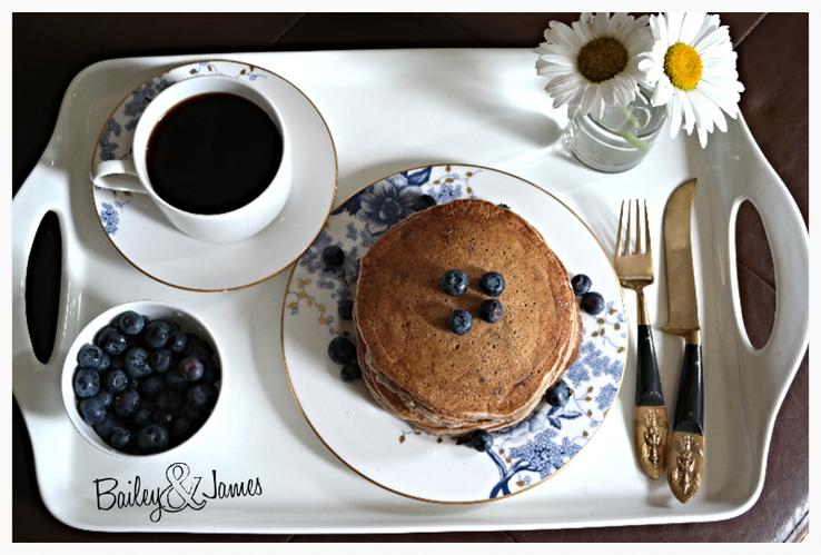 Blueberry Lavender Pancakes