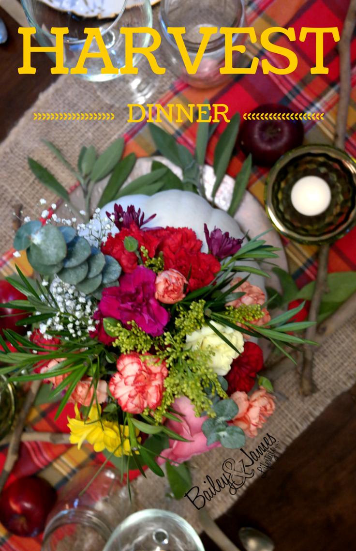 Harvest Dinner: Fall Tablescape