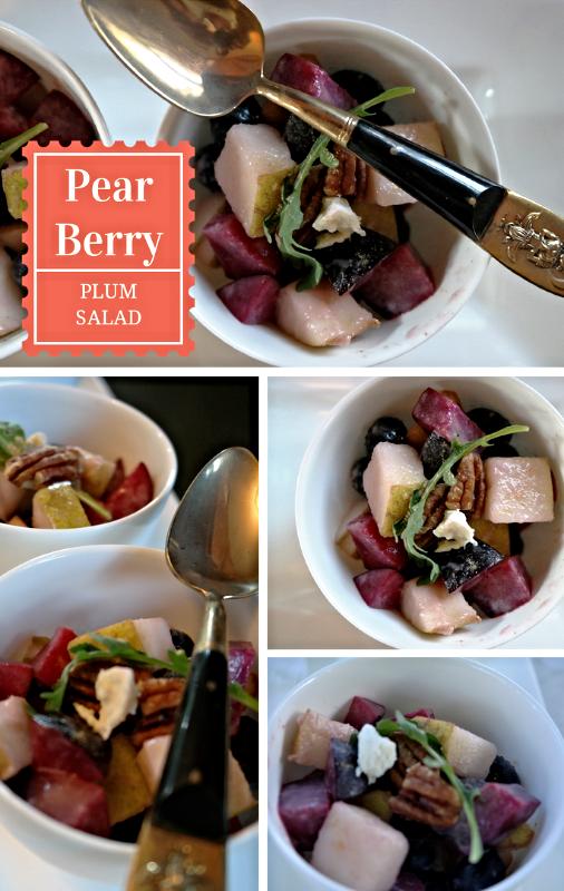 Pear Berry Plum Salad
