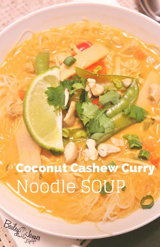 Coconut Cashew Curry Noodle Soup
