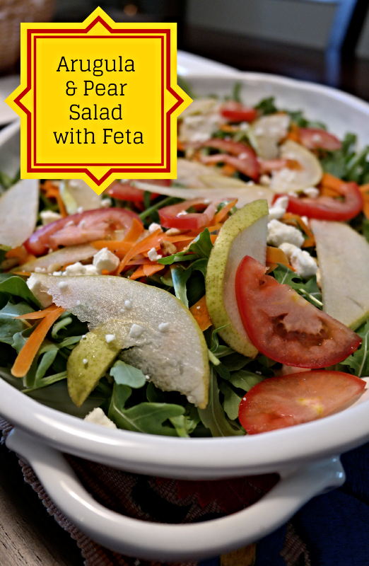 Spanish Inspired Part III: Arugula & Pear Salad with Feta