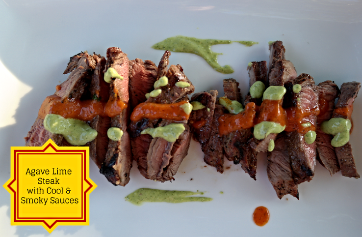 Spanish Inspired Part II: Agave Lime Steak with Cool and Smoky Sauces
