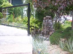 and glass railing