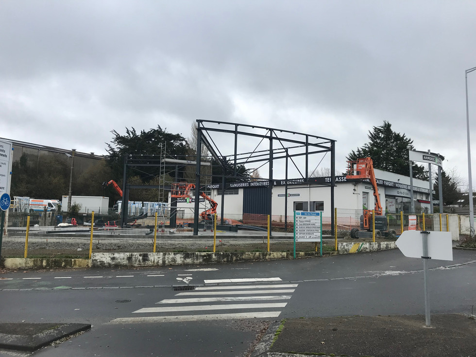 Construction d'un nouveau Showroom pour l'agence de Dinan