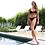Thumbnail: Black Bikini with Subtle Black Sparkle Detail