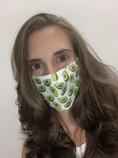 Avocado Sparkle Adjustable Face Mask